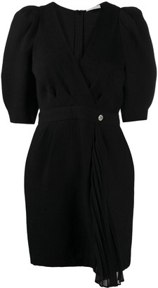 Sandro Paris Short-Sleeve Fitted Dress