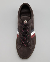 Moncler Monaco Safari Suede Sneaker, Gray