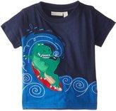 Jo-Jo JoJo Maman Bebe Surfing Dino T Shirt (Baby) - Navy-12-18 Months