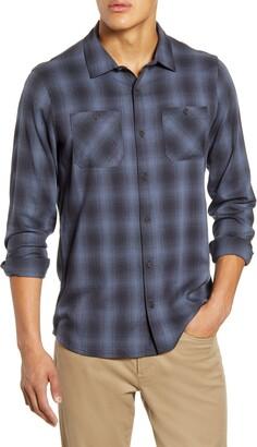 Travis Mathew TravisMathew Brocation Regular Fit Ombre Plaid Button-Up Shirt