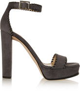 Jimmy Choo Holly whipstitched suede platform sandals