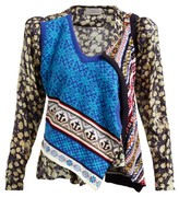 Preen by Thornton Bregazzi Isadora Cotton-knit And Silk-blend Top - Womens - Navy Print