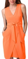Donna Morgan Women's Tulip Hem Sleeveless Crepe Dress