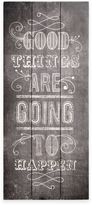 """Graham & Brown Good Things Are Going To Happen"""" Wood Print Wall Art"""