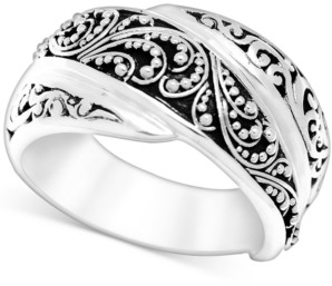 Lois Hill Filigree Overlap Statement Ring in Sterling Silver