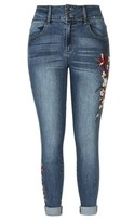 City Chic Embroidered Floral Skinny Harley Jean