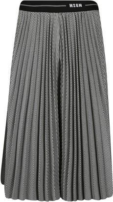 MSGM Ribbed Waist Pleated Skirt