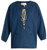 The Great The Rope denim top