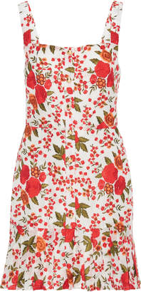 Alexis Melora Floral-Embroidered Mini Dress