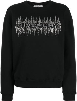 Givenchy Crystal-Embellished Logo Sweatshirt