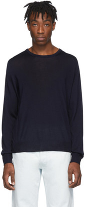 Maison Margiela Navy Wool Sweater