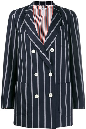 Thom Browne Vertical-Stripe Sack Jacket