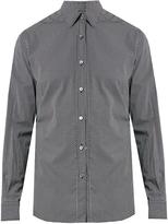 Ermenegildo Zegna Micro geometric-print cotton shirt