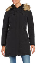 Vince Camuto Faux Fur-Trimmed Hooded Zip-Front Parka Jacket