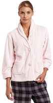 Casual Moments Women's Bed Jacket Shawl Collar Robe