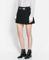Zara Mini Skirt With Buckles
