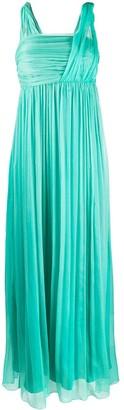 Pinko Draped Chiffon Gown