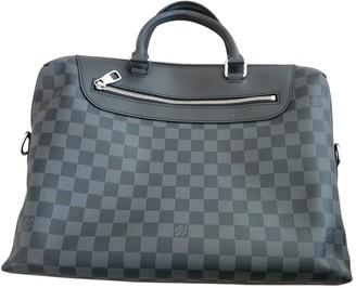 Louis Vuitton Porte Documents Jour Grey Cloth Bags