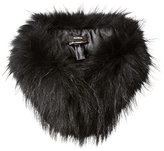 Rudsak Women's Neverland Raccoon Fur Scarf with Clip Collar