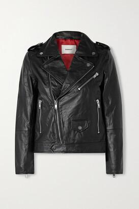 Deadwood + Net Sustain River Leather Biker Jacket - Black