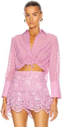 Alexis Kaja Top in Lilac Macrame | FWRD