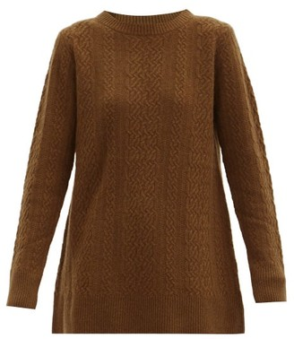 Co Cable-knit Cashmere Sweater - Brown