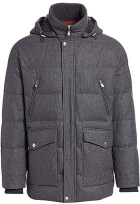 Brunello Cucinelli Padded Wool & Silk Blend Quilted Jacket