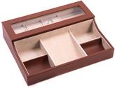 Bey-Berk Bey Berk Monogrammed Three-Watch Valet Box