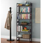 Tribeca 2-Solid Oak Stackable Folding Bookshelves Java
