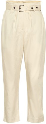 Brunello Cucinelli Cotton high-rise cropped pants