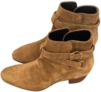 Saint Laurent Blaze Brown Suede Ankle boots