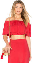Clayton Molly Top in Red. - size L (also in M,S,XS)