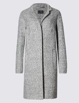 Marks and Spencer Boucle Notch Overcoat with Wool