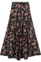 Isabel Marant Peace Metallic Floral-Jacquard Maxi Skirt