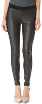 Leticia Leggings with Faux Leather Detail