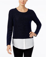 Calvin Klein Textured Layered-Look Sweater