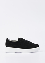 Robert Clergerie black pasket platform sneaker