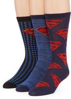 DC COMICS DC Comics Superman 3-pk. Crew Socks