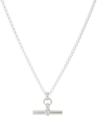 Tilly Sveaas Small T-Bar silver necklace