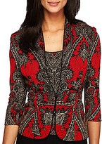 Alex Evenings Front Button Printed Twinset