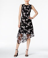 Alfani PRIMA Embroidered Asymmetrical Dress, Only at Macy's