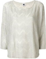 M Missoni embroidered knitted top - women - Polyamide/Polyester/Viscose - S