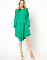 See by Chloe Grecian Style Mini Dress with Blouson Sleeves