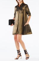 BCBGMAXAZRIA Emilee Metallic Shirt Dress