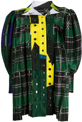 Chopova Lowena Tartan Print Shirt Dress