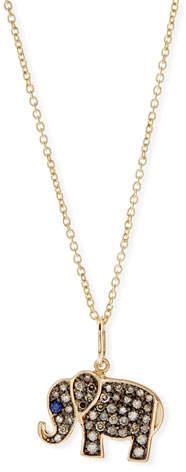 Sydney Evan Anniversary Elephant Necklace with Diamonds