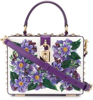 Dolce & Gabbana Floral Appliques Box Bag
