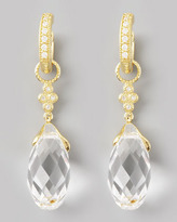 Jude Frances White Quartz Briolette Charms, Yellow Gold