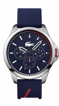Lacoste Stainless Steel Japanese Quartz Watch with Rubber Strap