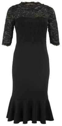 Dorothy Perkins Womens *Feverfish Black Lace Fishtail Dress, Black